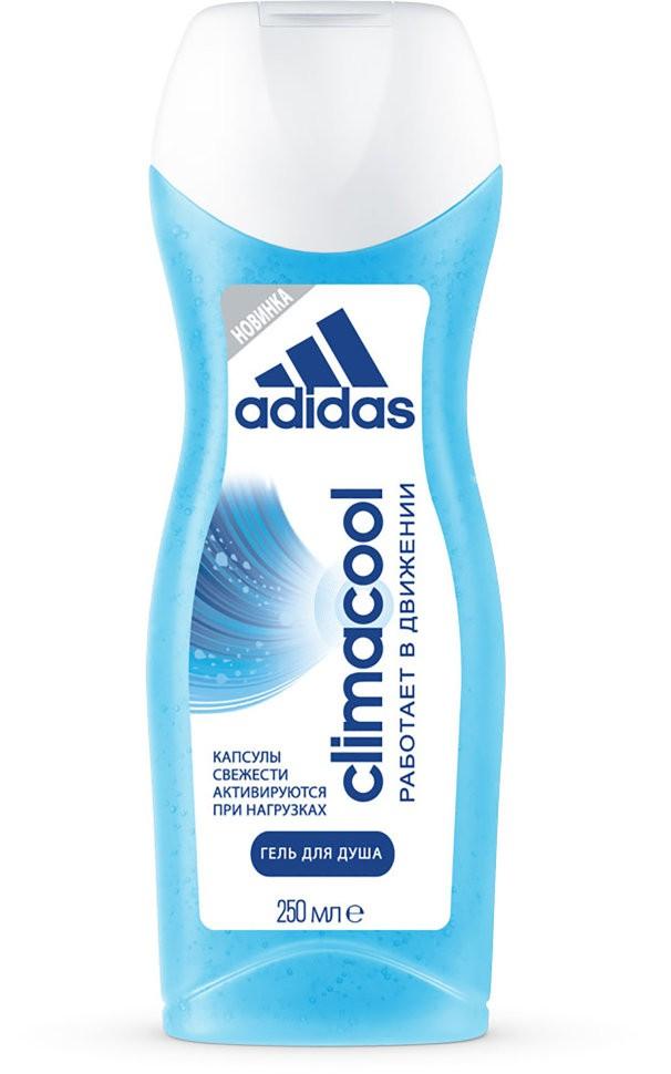 Adidas гель для душа для женщин ClimacoolAdidas<br>Насладись длительной свежестью и ощущением чистоты благодаря уникальным капсулам свежести, которые активируются в движении в течение всего дня. Чтобы поддержать этот эффект используй антиперспирант climacool этой линии. Будь готов ощутить свежесть и чистоту в течение всего дня.Гель для душа Adidas Climacool обладает уникальной формулой, включающей в себя усовершенствованную технологию капсул свежести, активирующихся при нагрузках и прикосновениях. Продукт является универсальным средством, которое обеспечивает оптимальный уход за нежной женской кожей, поддерживая естественный баланс вашей кожи, и имеет приятный, бодрящий аромат. Будьте готовы ощутить свежесть на весь день с гелем для душа Adidas Climacool для женщин.<br>Состав:<br>Aqua/Water/Eau, Sodium Laureth Sulfate, Cocamidopropyl Betaine, Acrylates Copolymer, Parfum/Fragrance, Sodium Chloride, Sodium Hydroxide, Citric Acid, Sodium Benzoate, Disodium EDTA, Ethylhexyl Methoxycinnamate, PEG-150 Pentaerythrityl Tetrastearate, Limonene, Linalool, Hexyl Cinnamal, Citronellol, Polyurethane Crosspolymer-2, Magnesium Nitrate, PEG-6 Caprylic/Capric Glycerides, Butyl Methoxydibenzoylmethane, Ethylhexyl Salicylate, Urea, Acrylamidopropyltrimonium Chloride/Acrylamide Copolymer, Methylisothiazolinone, Methylchloroisothiazolinone, Xanthan Gum, Chlorhexidine Digluconate, Magnesium Chloride, BHT, FD&amp;amp;C Blue No. 1 (CI 42090), D&amp;amp;C Violet No. 2 (CI 60730).<br><br>Вес г: 300<br>Бренд : Adidas<br>Объем мл: 250<br>Страна производитель : Испания