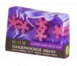 Ecolab Мыло глицериновое ЦветочноеДля тела<br>Красивое мыло ручной работы глицериновое Цветочное.<br>Подарите вашей коже прекрасное самочувствие благодаря чувственному цветочному аромату, омолаживающему и питательному эффекту масла ириса. <br>Активные ингредиенты: масло вербены, масло лаванды, экстракт ириса.<br>- Масло вербены: омолаживает, витаминизирует кожу, повышает упругость.<br>- Масло ириса -<br> благодаря содержанию изофлавонов, активизирует выработку коллагена и <br>эластина. Способствует удержанию влаги в клетках кожи, что так же <br>является антивозрастным действием.<br>Продукт не содержит парабенов и силиконов.<br>Способ применения: вспенить мыло, нанести на влажную кожу, помассировать, смыть.Вес: 130гр.<br><br>Вес г: 130<br>Бренд : Ecolab<br>Страна производитель : Россия