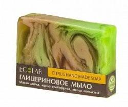Ecolab Мыло глицериновое ЦитрусовоеДля тела<br>Красивое мыло ручной работы глицериновое Цитрусовое.<br>Приятный цитрусовый аромат взбодрит вас и снимет усталость, а масла нежно увлажнят вашу кожу, сделают ее нежной и бархатистой. <br>Активные ингредиенты: масло лайма, масло грейпфрута, масло апельсина.<br>Продукт не содержит парабенов и силиконов.<br>Способ применения: вспенить мыло, нанести на влажную кожу, помассировать, смыть.Вес: 130гр.<br><br>Вес г: 130<br>Бренд: Ecolab<br>Средство для рук: мыло<br>Страна производитель: Россия