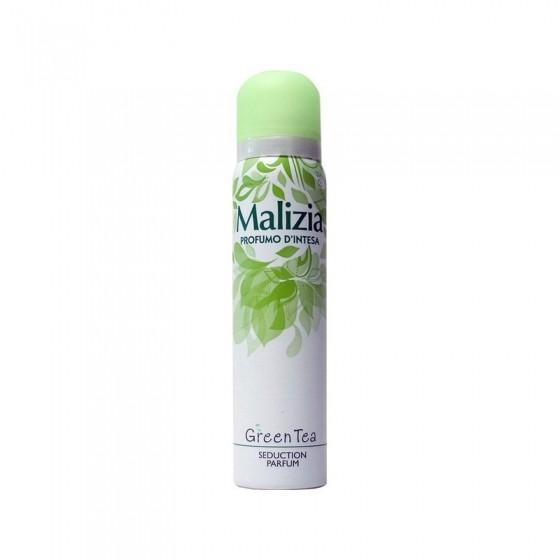 MALIZIA Део-спрей женский PARFUM DEOD GREEN TEAMalizia<br>Свежий, современный, модный. Зеленый чай Интеза излучает динамичный и энергичный аромат для современной женщины, которая всегда на ходу. И дает ей ауру таинственного очарования в любое время. Аромат сладкий, но в тоже время пронзительно свежий, зеленый и тонкий. Нежные и свежие, чувственные и увлекательные, такие разные спреи для тела Malizia Profumo d'Intesa созданы, чтобы удовлетворить различные потребности современной женщины.<br><br>Вес г: 170<br>Бренд : Malizia<br>Объем мл: 150<br>Тип дезодоранта : спрей<br>Страна производитель : Италия