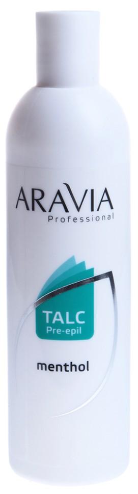 Aravia Тальк с ментолом 200грAravia<br>Тальк косметический с ментолом предназначен для повышения эффективности проведения процедуры восковой депиляции. Предохраняет кожу от раздражения и нагревания, делает процесс эпиляции более эффективным. Устраняет излишнею влагу с кожи и улучшает сцепление состава воска с волосом. Мягкая структура талька позволяет коже дышать и оказывает антисептическое и дезодорирующее действие.Условия хранения: в сухом месте при комнатной температуре.Активные компоненты:Тальк — минерал, кристаллическое вещество, впитывает излишки влаги с кожи, защищает от ожогов.Крахмал — структурообразующий, матирующий компонент, впитывающий влагу. Обеспечивает ровное нанесение средства на кожу.Ментол - органическое вещество, полученное из эфирного мятного масла, обладает охлаждающим, слабым местным анестезирующим действием, снимает спазм, усталость, успокаивает кожу.Рекомендации по применению:Применяется непосредственно перед процедурой депиляции. Нанести тальк тонким слоем на поверхность кожи и равномерно распределить мягкой салфеткой или ватным диском.<br><br>Вес г: 220<br>Бренд: Aravia<br>Тип кожи: все типы кожи<br>Тип средства для депиляции: тальк<br>Страна производитель: Россия