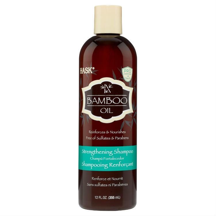 HASK Шампунь укрепляющий для волос с маслом Бамбука 355млHask<br>Укрепляет &amp;amp; ПитаетНе содержит сульфаты, парабены, фталаты, клейковину (глютен), спирт и искусственные красители.Шампунь на основе белкового комплекса, который проникает в структуру <br>волоса, укрепляя и защищая их. Защитите хрупкие волосы от повреждений и <br>поломок с шампунем HASK с маслом Бамбука, который обеспечивает прочный <br>фундамент для волос, укрепит пряди волос, делает волосы гибкими. Биотин и коллаген обеспечивает силу волосам и здоровый<br> вид.Способ применения: Массажными движениями нанести на влажные волосы, <br>тщательно смойте и повторите при желании. Идеально подходит для <br>ежедневного использования. Для достижения наилучших результатов <br>используйте другие средства HASK с бамбуковым маслом.<br><br>Вес г: 405<br>Бренд : HASK<br>Объем мл: 355<br>Тип волос : тонкие и ослабленные<br>Действие : питание, укрепление<br>Тип средства для волос : шампунь<br>Страна производитель : США