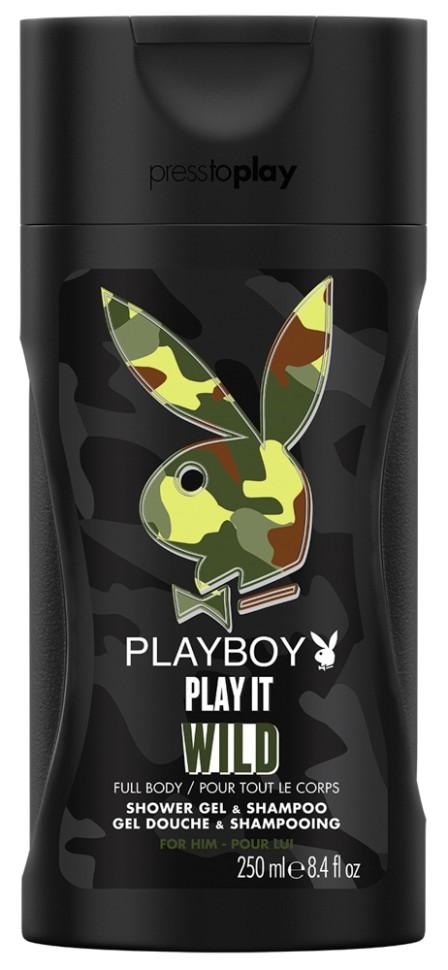 Playboy Play It Wild Male Парфюмированный гель для душа 250 млPlayboy<br>Пусть каждый день будет особенным. Гель для душа и шампунь Playboy придаст свежесть и заряд энергии на весь день. Она не сможет устоять!<br>Состав:<br>Aqua/Water/Eau, Sodium Laureth Sulfate, Cocamidopropyl Betaine, Acrylates Copolymer, Parfum/Fragrance, Sodium Chloride, Sodium Hydroxide, Citric Acid, Sodium Benzoate, Disodium EDTA, Ethylhexyl Methoxycinnamate, PEG-150 Pentaerythrityl Tetrastearate, Limonene, Linalool, Hexyl Cinnamal, Citronellol, Polyurethane Crosspolymer-2, Magnesium Nitrate, PEG-6 Caprylic/Capric Glycerides, Butyl Methoxydibenzoylmethane, Ethylhexyl Salicylate, Urea, Acrylamidopropyltrimonium Chloride/Acrylamide Copolymer, Methylisothiazolinone, Methylchloroisothiazolinone, Xanthan Gum, Chlorhexidine Digluconate, Magnesium Chloride, BHT, FD&amp;amp;C Blue No. 1 (CI 42090), D&amp;amp;C Violet No. 2 (CI 60730).<br><br>Вес г: 326<br>Бренд : Playboy<br>Объем мл: 250<br>Страна производитель : Испания