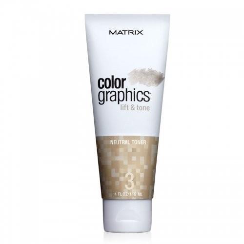 Matrix MA MA MA КОЛОР ГРАФИКС Лифт-энд-Тон Тонер Нейтральный 118 млMatrix<br>ColorGraphics Lift&amp;amp;Tone - даёт возможность осветлять и тонировать пряди за один шаг, ухаживая за волосами во время окрашивания. Четыре тонирующих пигмента - нейтрализуют, смягчают или усиливают желаемые оттенки. Matrix ColorGraphics Lift&amp;amp;Tone - идеально подходит для техник окрашивания без контакта с кожей головы: - работы на фольге. - закрытой техники свободной руки. - балеяжа.<br><br>Вес г: 168<br>Бренд: Matrix<br>Объем мл: 118