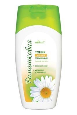 Белита Тоник для лицаБелита<br>Тоник от Белита завершает процесс очищения кожи, оказывает длительное увлажняющее, освежающее и тонизирующее действие. Благодаря аллантоину и бисабололу успокаивает и восстанавливает кожу, оказывает антисептическое и противовоспалительное действие. Подходит для всех типов кожи.<br>Состав: вода, глицерин, ПЭГ-40 гидрогенизированное касторовое масло, бетаин, пропиленгликоль, экстракт ромашки, аллантоин, бисаболол, фарнезол, парфюмерная композиция, бензиловый спирт, метилхлоризотиазолинон, метилизотиазолинон, 2-бром-2-нитропропан-1,3-диол.Объем: 200 мл<br><br>Вес г: 220<br>Бренд : Белита<br>Объем мл: 200<br>Тип кожи : все типы кожи<br>Вид средства для демакияжа : тоник<br>Страна производитель : Белоруссия