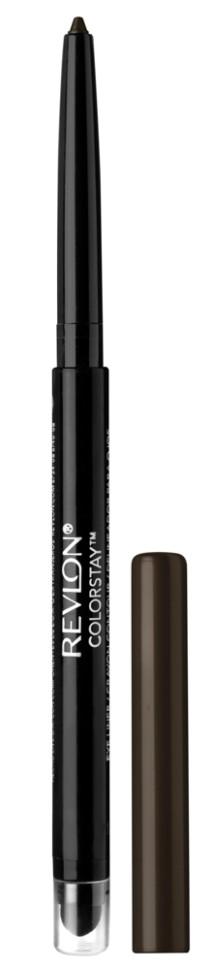 Revlon Карандаш для глаз Colorstay Eyeliner (202 Black brown)Revlon<br>Нанести полностью на подвижное веко, на внутреннюю поверхность века или просто на линию роста ресниц по верхнему и/или нижнему веку<br>Описание:<br>Colorstay Eyeliner - супер-устойчивый автоматический карандаш-лайнер для глаз. Легко наносится, придавая глазам выразительность. Автоматический карандаш. Технология ColorStay™ сохраняет глаза красиво очерченными на протяжении В корпусе карандаша встроена точилка.<br>Состав:<br>CYCLOPENTASILOXANE, OZOKERITE, TRIMETHYLSILOXYSJLICATE, PCLYETHYLENE, PHENYL TRIMETHICONE, CANDELILLA CERA ((EUPHORI3IA CERIFERA (CANDELILLA) WAX) CIRE DE CANDELILLA), SORBIC ACID, METHYLPARABEN, PROPYLPARABEN, TOCOPHEROL, BHT, BLACK 2 (CI 77266), FERRIC FERROCYANIDE (CI 77510), BLACK 2 (CI 77266)<br><br>Вес г: 40<br>Бренд : Revlon<br>Тип карандаша : с кисточкой<br>Объем мл: 6<br>Страна производитель : СОЕДИНЕННЫЕ ШТАТЫ АМЕРИКИ