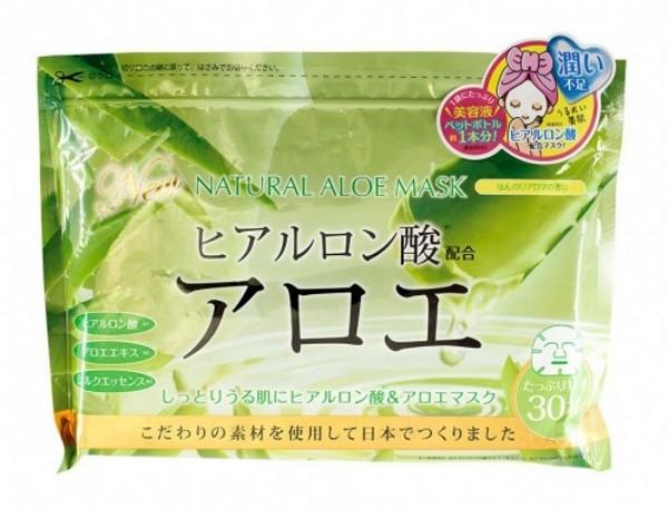 JAPONICA JAPAN GALS Курс натуральных масок для лица с экстрактом Алоэ 30штJaponica<br>Натуральные маски JAPAN GALS в уникальном сочетании экстракта алоэ-вера и гиалуроновой кислоты созданы для совершенного ухода за вашей кожей. Являясь основными компонентами, гиалуроновая кислота, экстракт алоэ-вера и шелковая эссенция, применяются для заботы о проблемной коже с плохой текстурой. Благодаря своему составу они созданы для ежедневного использования, образуя целый комплекс по уходу за лицом. Чтобы ваша кожа сияла здоровьем, Вам потребуется всего 5-10 минут в день для ухода за ней. Маски очень просты в применении, а после их использования лицо не требует дополнительного умывания. Благодаря плотному прилеганию маски к лицу состав, которым пропитана шелковая маска-эссенция проникает глубоко в кожу, успокаивая и увлажняя ее изнутри. Так же у маски имеются специальные кармашки для проработки зоны в области глаз. Гиалуроновая кислота формирует на поверхности кожи легкую пленку, всасывающую влагу из воздуха, что способствует увеличению содержания свободной воды в роговом слое, а также создает эффект дополнительной влажности, который помогает снизить испарение воды с поверхности кожи. Она прекрасно совместима с кожей, не вызывая раздражения и аллергических реакций. Экстракт алоэ-вера обладает множеством полезных свойств, таких как: увлажнение и питание, восстановление и защита, очищение и нормализация обменных процессов, без которых уход за кожей был бы просто невозможен.<br><br>Вес г: 610<br>Бренд : Japonica<br>Объем мл: 600<br>Тип кожи : все типы кожи<br>Консистенция маски : тканевая<br>Часть лица : лицо<br>По времени суток : дневной уход<br>Назначение маски : увлажняющая, питательная, восстанавливающая<br>Страна производитель : Япония
