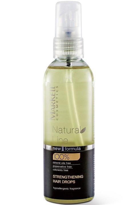 Markell Капли для волос УкрепляющиеMarkell<br>«Natural Line» - принципиально новый подход к уходу за волосамиКапли для волос «Укрепляющие» - это уникальный продукт для укрепления корней и ухода за волосами.Масло аргании укрепляет волосяные луковицы и предотвращает выпадение волос.Масло оливковое обеспечивает полноценное питание кожи головы кислородом. Витамин Е стимулирует рост волос, снимает воспаление кожи головы, улучшает кровообращение в волосяных фолликулах.Капли улучшают внешний вид волос, делая их более здоровыми и красивыми, гладкими и шелковистымиПодходят для всех типов волос.Применение: Нанести на кожу головы по проборам за 30-60 минут до мытья. Легкими массирующими движениями провести массаж. Для усиления эффекта можно надеть полиэтиленовую шапочку. После процедуры используйте шампунь и бальзам-кондиционер или бальзам-маску серии «Natural Line».<br><br>Вес г: 120<br>Бренд : Markell<br>Объем мл: 100<br>Тип волос : все типы волос<br>Действие : питание, укрепление, от выпадения волос<br>Тип средства для волос : сыворотка/эссенция<br>Страна производитель : Белоруссия