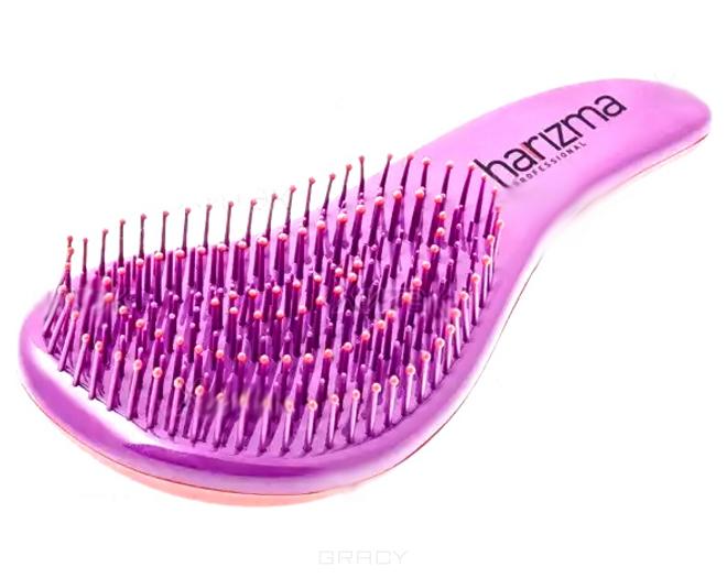 Harizma Щётка для волос малая фиолетовая с ручкойHarizma<br>Щётка для волос D'tangler.- Мягкая гибкая щетина- Шарики на концах щетинок для бережного расчёсывания и релаксации- Распутывает волосы без боли- Подходит для всех типов волос, включая повреждённые и наращенные<br><br>Вес г: 50<br>Бренд: Hairway
