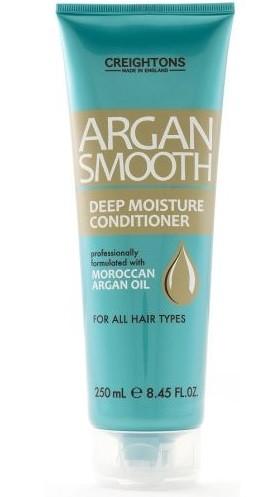 CREIGHTONS Кондиционер для глубокого увлажнения волос с Аргановый масломCreightons<br>Восстанавливает уровень влаги, укрепляет, придает сияние, делает волосы послушными, мягкими и шелковистыми. Питает и защищает волосы от корней до самых кончиков.Подходит для всех типов волос.Получаемое из ядра Марокканского Арганового дерева, это масло, обогащенное природными антиоксидантами, приносит огромную пользу волосам, коже и ногтям.Профессионалы компании Creightons собрали всю природную силу Марокканского Арганового масла и воплотили ее в линии Argan Smooth, которая специально разработана для ежедневного питания и и оздоровления волос. Обогащенная маслом Аргана она глубоко питает и увлажняет волосы от корней до самых кончиков, придавая вашей прическе ухоженный, салонный вид.<br><br>Вес г: 300<br>Бренд : Creightons<br>Объем мл: 250<br>Тип волос : все типы волос<br>Действие : увлажнение, питание<br>Тип средства для волос : кондиционер<br>Страна производитель : Великобритания