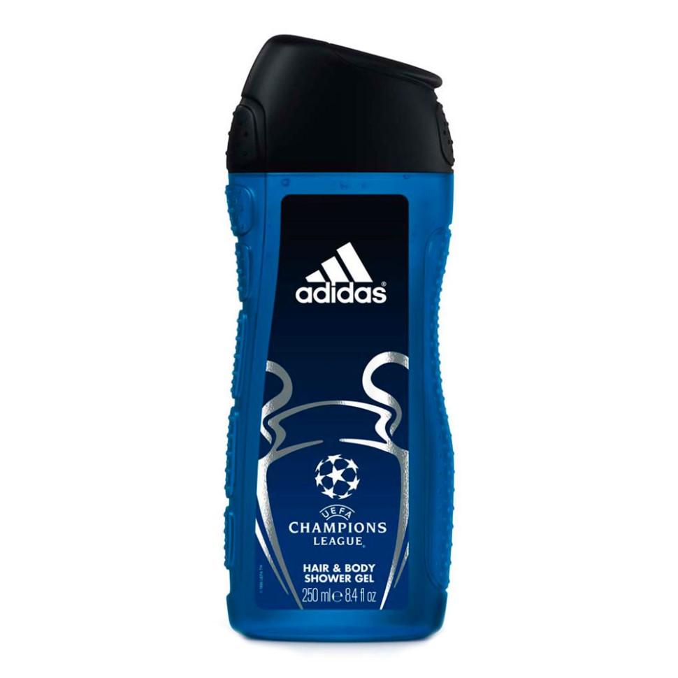 Adidas Гель для душа для мужчин UEFA IIAdidas<br>Adidas UEFA Champions League Star Edition - гель для душа для тела и волос для мужчин. Его свежий динамичный аромат пробудит ваши чувства. <br>Подходит для ежедневного применения, не нарушает pH баланс, прошел дерматологическое тестирование.<br><br>Вес г: 300<br>Бренд : Adidas<br>Объем мл: 250<br>Страна производитель : Испания
