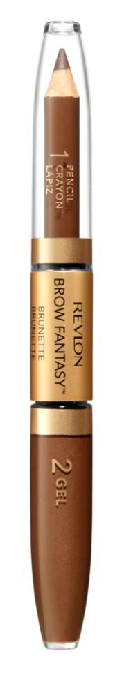 Revlon Карандаш и гель для бровей Colorstay Brow Fantasy Pencil &amp; Gel (105 коричневый)Revlon<br>аккуратно подвести брови вдоль роста<br>Описание:<br>Карандаш и гель для бровей Brow Fantasy окрашивает, оформляет и фиксирует форму бровей, в течение всего дня придавая им красивый и ухоженный вид. Благодаря этому уникальному и практичному средству вы создадите желаемый образ: акцентированную, чётко очерченную линию брови, или же мягкий и естественный вид. Начните нанесение грифельной частью карандаша, следуя естественной дуге брови, заполняя пространства между волосками. Тонированный гель фиксирует форму бровей и придаёт линии ещё более чёткую очерченность. Как карандаш, так и гель можно наносить либо в небольшом количестве, либо в несколько слоёв - в зависимости от того образа, который вы хотите создать.<br>Состав:<br>POLYETHYLENE, HYDROGENATED POLYJSOBUTENE, DIMETHICONE, POLYMETHYLSILSESQUIOXANE, RHUS SUCCEDANEA CERA (RHUS SUCCEDANEA FRUIT WAX), SORBIC ACID, TOCOPHEROL, ASCORBYLPALMITATE, LECITIIIN, GLYCERYLSTEARATE, GLYCERYLOLEATE, CITRICACID, BLACK JRON OXIDE (CI77499), YELLOW !RON OXIDE (CI 77492), MICA, RED JRON OXIDE (CI77491), TITANIUM DIOXIDE (CI77891); ISODODECANE, TIUSILOXANE, SILICA, PARAFFIN, POLYSILICONE-6, DIMETHICONE, ACRYLATES/DIMETHICONE COPOLYMER, PPG-12/SMDI COPOLYMER, DISTEARDIMONIUM HECTORITE, TRIHYDROXYSTEARIN, PHENOXYETHANOL, PROPYLENE CARBONATE, DIMETHICONE CROSSPOLYMER, CAPRYL GLYCOL, 1,2-HEXANEDIOL, MICA, BLACK IRON OXIDE (CI 77499), RED IRON OXIDE (Cl7749), YELLOW IRON OXIDE (CI 77492), TITANIUM DIOXIDE (CI 7789)<br><br>Вес г: 58<br>Бренд : Revlon<br>Тип средства для бровей : гель для бровей<br>Объем мл: 1<br>Страна производитель : СОЕДИНЕННЫЕ ШТАТЫ АМЕРИКИ