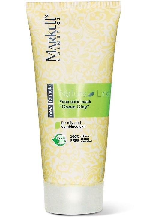 Markell Маска-уход для лица Зеленая глинаMarkell<br>Для проблемной, жирной и смешанной кожиМаска-уход для лица на основе зеленой глины – прекрасное средство для глубокого очищения и оздоровления жирной и проблемной кожи. Масло виноградных косточек способствует хорошему увлажнению и смягчению кожи, устраняет сухость и шелушение. Экстракт ежевики очищает, улучшает цвет лица, слегка отбеливает кожу.Регулярное применение маски возвращает Вашей коже свежесть и чистоту, придает ей матовость.Применение: небольшое количество маски нанести на кожу лица и шеи, избегая области вокруг глаз. Оставить на 15- 20 минут. Смыть теплой водой.<br><br>Вес г: 120<br>Бренд: Markell<br>Объем мл: 100<br>Тип кожи: комбинированная, жирная, проблемная<br>Часть лица: лицо<br>По времени суток: дневной уход<br>Назначение маски: отбеливающая, противовоспалительная<br>Страна производитель: Белоруссия