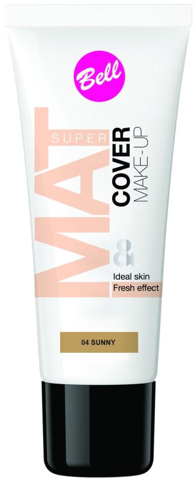 Bell Флюид матирующий тональный, стойкий эффект Super Mat Cower Make-up Foundation (04 темно-бежевый)Bell<br>Обеспечивает матовый макияж в течение всего дня. Эффективно скрывает недостатки кожи, гарантируя свежий и здоровый тон лица.<br>Руководство по выбору:<br>Матовый стойкий макияж в течение всего дняСпособ применения:<br>Нанести тонким слоем на кожу лицаОсобенности состава:<br>Содержит комплекс активных витаминов C и E, которые ухаживают и увлажняют кожу<br>Состав:<br>Ingredients: Aqua, Cyclopentasiloxane, PEG/PPG-18/18 Dimethicone, Cyclohexasiloxane, Dimethiconol, Sodium Chloride, Ethylhexyl Methoxycinnamate, C30-45 Alkyl Methicone, C30-45 Olefin, Polysorbate 80, Tocopherol, Ascorbyl Palmitate, Ascorbic Acid, Ethylhexylglycerin, Trimethoxycaprylylsilane, PEG-8, Citric Acid, BHT, Phenoxyethanol, Parfum, Alpha-isomethyl Ionone, Benzyl Salicylate, Butylphenyl Methylpropional, Hexyl Cinnamal, Hydroxyisohexyl 3-Cyclohexene Carboxaldehyde, CI 77491, CI 77492, CI 77499, CI 77891<br><br>Вес г: 75<br>Бренд : Bell<br>Объем мл: 30<br>Упаковка : тюбик<br>Тип кожи : все типы кожи<br>Степень покрытия : средняя<br>Эффект от нанесения : увлажение<br>Тип тонального средства : флюид<br>Страна производитель : Польша