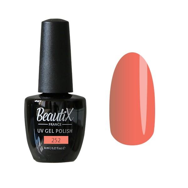 Beautix Гель-лак для ногтей 8 мл (№252)Beautix<br>Beautix – французские гель-лаки премиального качества. Материал отличается простотой в нанесении, плотностью цветов и стойкостью покрытия более 2-х недель без сколов и трещин. Роскошная палитра цветов и регулярно обновляющиеся коллекции будут по вкусу даже самым притязательным мастерам. При этом гель-лаки абсолютно безопасны, не содержат вредных веществ и практически не имеют запаха.<br>Способ применения:Делаем маникюр любым удобным вам способом. Придаем форму, бафим.Обезжириваем ногти жидкостью для устранения лишней влаги и лучшей сцепки поверхности ногтя с материалом.Наносим базовое покрытие Beautix тонким слоем длинными плавными движениями сверху вниз, отступая от кутикулы на 1-2 мм и не касаясь боковых валиков. Запечатываем торец. Просушиваем в LED-лампе 30 секунд, в UV-лампе - 2 минуты.Наносим цвет. Первый слой очень тонко, так же длинными плавными движениями максимально близко к кутикуле и боковым валикам, но, не касаясь и не затрагивая их. Запечатываем торец. Полимеризуем в LED-лампе 30 секунд, в UV-лампе - 2 минуты. Покрытие Beautix достаточно плотное, яркое и даже первый слой ложится без проплешин и полос. Вторым более плотным слоем выравниваем цвет (если нужно), снова запечатываем ноготок и полимеризуем.Наносим верхнее покрытие Beautix (необходимо для защиты от царапин, сколов и выцветания), запечатываем торец, полимеризуем в LED-лампе 30 секунд, в UV-лампе - 2 минуты, достаем из лампы и даем ноготкам остыть 1 минутку. Снимаем липкий слой жидкостью для удаления дисперсии Beautix, после чего покрытие приобретает стойкий глянцевый блеск.Состав:Этоксилат (5) Пентаэритритолтетраакрилат, 2-гидроксипропилметакрилат, триметилолпропантриакрилат, 2-гидроксиэтилметакрилат, 1-гидроксициклогексилфенилкетон, Н-диметилакриламид, этилен дистеарамид.Продукция французской марки Beautix завоевала сердца тысяч российских мастеров, благодаря премиальному качеству, долговечности и безопасности гель-лаков и стильному дизайну. Вс