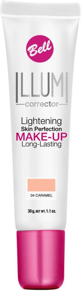 Bell Флюид суперстойкий корректирующий и придающий сияние Illumi Lightening Skin Perfection Make-up (04 бронзовый)Bell<br>Флюид значительно улучшает состояние кожи лица, придавая здоровый вид и естественное сияние серой и усталой коже.  Редуцирует покраснения, устраняет мелкие недостатки кожи, придает коже ровный тон. Содержит UVA и UVB фильтры, защищающие кожу от вредного действия солнечных лучей.<br>Руководство по выбору:<br>Здоровый вид и естественное сияние для кожиСпособ применения:<br>Нанести тонким слоем на кожу лицаСостав:<br>Ingredients: Aqua (Water), Cyclopentasiloxane, Cyclohexasiloxane, Glycerin, PEG/PPG-18/18 Dimethicone, Sodium Chloride, Titanium Dioxide (nano), Stearoyl Inulin, Acrylates/C12-22 Alkyl Methacrylate Copolymer, Lithium Magnesium Sodium Silicate, Polysorbate 80, Distearyldimonium Chloride, Hydrated Silica, Hydrogen Dimethicone, Propylene Glycol, Tocopherol, Ascorbyl Palmitate, Ascorbic Acid, Triethoxycaprylylsilane, Trimethoxycaprylylsilane, Ethylhexylglycerin, Propylene Carbonate, Citric Acid, PEG-8, Aluminum Hydroxide, Phenoxyethanol, Parfum (Fragrance), Alpha-isomethyl Ionone, Benzyl Salicylate, Butylphenyl Methylpropional, Hexyl Cinnamal, Hydroxyisohexyl 3-Cyclohexene Carboxaldehyde, Mica, Tin Oxide, CI 77491, CI 77492, CI 77499 (Iron Oxides), CI 77891 (Titanium Dioxide)<br><br>Вес г: 75<br>Бренд : Bell<br>Объем мл: 30<br>Упаковка : тюбик<br>Тип кожи : все типы кожи<br>Степень покрытия : средняя<br>Эффект от нанесения : сияние<br>Тип тонального средства : с SPF<br>Страна производитель : Польша