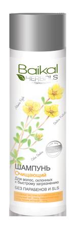Baikal Herbals Шампунь для волос Очищающий для волос склонных к быстрому загрязнениюBaikal Herbals<br>Шампунь создан на основе экстрактов растений Байкала специально для волос, которые быстро становятся жирными. Кедр гималайский освежает, обладает бактерицидным действием, способствует быстрому восстановлению волос. Полынь холодная насыщает корни витамином С, укрепляет их, придаёт причёске лёгкость и пышность. Лапчатка серебристая регулирует работу сальных желёз, возвращает волосам природную красоту и блеск. Шампунь великолепно очищает волосы, предохраняя их от быстрого загрязнения. Препятствует возникновению жирного блеска, придаёт волосам свежий, здоровый вид. Не содержит парабенов и SLS.<br><br>Вес г: 300<br>Бренд: Baikal Herbals<br>Объем мл: 280<br>Тип волос: жирные, смешанные<br>Действие: питание, укрепление, восстановление, для объема, блеск и эластичность, глубокое очищение<br>Тип средства для волос: шампунь<br>Страна производитель: Россия