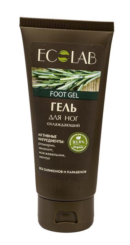 Ecolab Гель для ног ОхлаждающийДля тела<br>Охлаждающий гель для ног Ecolab содержит более 97% ингредиентов растительного происхождения. Не содержит парабенов и силиконов.Органическое масло розмарина обладает антисептическим действием, стимулирует обменные процессы в клетках.<br><br>Вес г: 120<br>Бренд : Ecolab<br>Объем мл: 100<br>Страна производитель : Россия