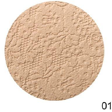 Limoni Пудра компактная Lace Powder (тон №01)Косметика для лица<br>Компактная пудра Limoni Lace скрывает морщинки и мелкие дефекты кожи благодаря эксклюзивным пигментам и светоотражающим частицам последнего поколения.Её усовершенствованная формула создает тонкую пудровую вуаль на лице. Не закупоривает поры, не раздражает кожу. Обеспечивает бархатистость и идеальный цвет лица.Вес: 10,5 г.<br><br>Вес г: 80<br>Бренд : Limoni<br>Эффект покрытия : сияние<br>Тип пудры : компактная<br>Зеркало : Да<br>В комплекте : пуховка