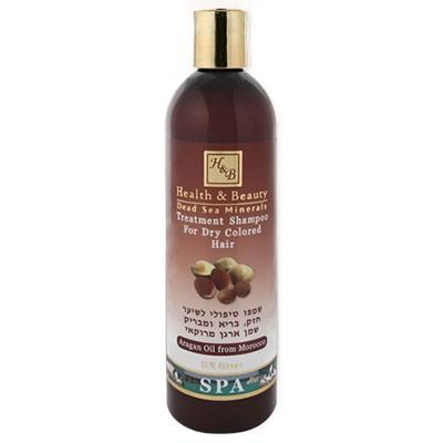 Health&amp;Beauty Шампунь укрепляющий для здоровья и блеска с маслом АрганыHealth&amp;Beauty<br>Шампунь разработан специально для ухода за тонкими, сухими, ломкими и посеченными волосами, обладает прекрасными моющими средствами, обильно пенится, эффективно очищает волосы, не раздражая кожу головы.<br>  Содержит солнцезащитные фильтры, протеины, витамин Е, провитамин В5, растительные масла и экстракты и минералы Мертвого моря.<br>  Насыщает волосы влагой, защищает их от вредного воздействия солнечных лучей и окружающей среды.<br>  Бережно заботится о здоровье волос и кожи головы, обеспечивая их комплексное питание.<br>  Шампунь обладает приятным ароматом, который сохраняется на длительное время.<br>  Содержит редкое и ценное масло аргании.<br>  Рекомендуется для ежедневного использования для всех типов волос, а также для волос, склонных к выпадению.<br>Способ применения: нанести необходимое количество шампуня, вспенить, оставить шампунь на волосах на пару минут, смыть теплой водой. Процедуру повторить. Для получения максимального эффекта рекомендуется использовать кондиционер и подходящую маску для волос из серии Н&amp;amp;В.<br><br>Вес г: 450<br>Бренд : Health &amp; Beauty<br>Объем мл: 400<br>Тип волос : сухие, поврежденные, длинные и секущиеся<br>Действие : увлажнение, укрепление, блеск и эластичность<br>Тип средства для волос : шампунь<br>Страна производитель : Израиль