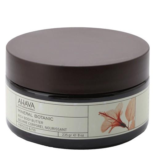 Ahava Mineral Botanic Насыщенное масло для тела гибискус и фига 235гAhava<br>Мягкое и ультра питательное крем-масло для тела обеспечивает интенсивное увлажнение в течение всего дня. Масло персика, масло Ши смягчают и питают вашу кожу. Восхитительное сочетание гибискуса(китайская роза) и инжира, обладает восстанавливающими и защитными свойствами. Питательное крем-масло для тела используется для сухой кожи в качестве увлажнения.Текстура питательнее, по сравнению с другими кремами и лосьонами, так как они имеют меньше воды в формуле.Крем-масло для дела содержат большое количество питательных ингредиентов, которые легко впитываются в кожу и сохраняют ее увлажненной в течении длительного времени.Крем-масло для тела образует защитный слой на поверхности кожи, уменьшая влияние солнца и экологических агрессивных факторов, защищая от сухого и холодного климата.Многие потребители считают, что их кожа стала гораздо мягче и менее склонна к сухости , когда они используют крем-масло для тела.Являясь единственной косметической компанией, расположенной на берегу Мертвого моря, цель и задача AHAVA состоит в том, чтобы предоставить достоинства Мертвого моря путем использования своих самых необычных ингредиентов и создания инновационных и эффективных продуктов для потребителей во всем мире.Способ применения:<br>Нанести необходимое количество на очищенную кожу массирующими движениями до полного впитывания<br>Особенности состава:<br>*Вся продукция не содержит парабены*Вся очищающие средства не содержат SLS / SLES (лаурет сульфат натрия). *Не содержит продуктов нефтепереработки, агрессивных синтетических ингредиентов и ГМО*Вся продукция гипоаллергена и опробована на чувствительной кожи.*Не тестируется на животных*Вся упаковка подлежит вторичной переработке*Вся продукция содержит формулу Osmoter™Состав:<br>Aqua (Mineral Spring Water), Vegetable Oil, Butyrospermum Parkii (Shea) Butter, Cyclomethicone, Ethylhexyl Palmitate, Stearyl Alcohol, Peg-40 Stearate, Glycerin, Sodium Lactate, Ceteary