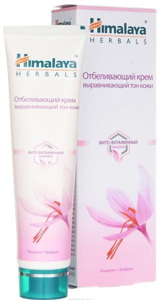 HIMALAYA Крем с отбеливающим эффектом Люцерна+ ШафранHimalaya Herbals<br>Улучшенная формула для осветления кожи обогащена фито-витаминным комплексом, в состав которого входят важные витамины, люцерна и шафран. Люцерна регулирует синтез меланина; шафран обладает отбеливающим действием, устраняет тусклый цвет и признаки усталости. Совместное действие ингредиентов насыщает кожу, придает ей здоровый, ровный и сияющий цвет.<br><br>Вес г: 60<br>Бренд: Himalaya Herbals<br>Объем мл: 50<br>Тип кожи: все типы кожи<br>Консистенция: крем<br>Тип крема: увлажняющий, питательный<br>Возраст: 25+, 30+, 35+, 40+<br>Эффект: уменьшение пигментации, осветляющий<br>По времени суток: дневной уход<br>Страна производитель: Индия