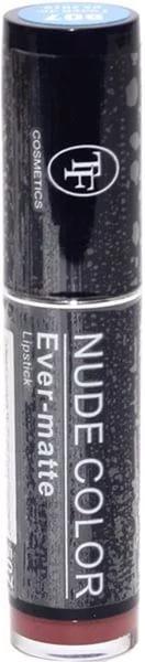 ТРИУМФ TF Помада для губ NUD COLOR ever-matt Lipstick (507 мат.каштановый мед)ТРИУМФ TF<br>Помада Nude Color Matte обеспечивает устойчивый результат:ультра-пигментированная, стойкая. Нежная текстура легко наносится и увлажняет, помада не ощущается на губах. Вместе с лёгкостью вы получаете стойкость до 4 часов! Коллекция включает в себя пудровые оттенки - модный бьюти-тренд в стиле Nude.<br><br>Вес г: 20<br>Бренд : Триумф TF<br>Упаковка помады : футляр (выдвижная)<br>Текстура помады : матовая<br>Свойства помады : питательная<br>Вид помады : классическая<br>Страна производитель : Польша
