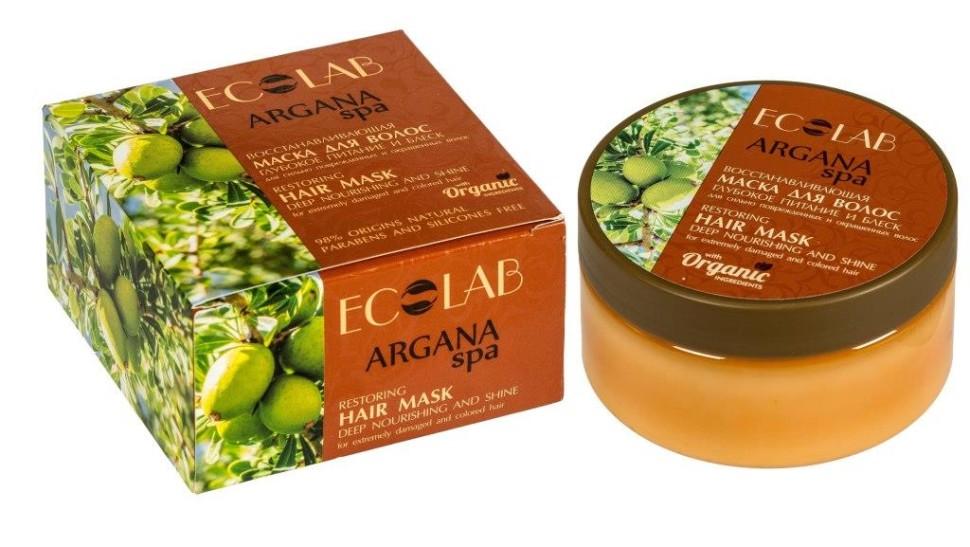 Ecolab SPA Маска для волос Глубокое питание и блескДля волос<br>Маска для поврежденных и окрашенных волос Эколаб Глубокое питание и блеск.Активные ингредиенты: масло арганы, органический экстракт Женьшеня, экстракт гибискуса.- Масло Арганы особо<br> богато витаминами А, Е и олеиновой кислотой (Omega 6, Omega 9). <br>Эффективно восстанавливает структуру сильно поврежденных и окрашенных <br>волос, защищает от вредного воздействия окружающей среды.- Органический экстракт Женьшеня укрепляет волосяные луковицы, препятствует выпадению волос.- Экстракт Гибискуса стимулирует рост волос.Продукт не содержит парабенов и силиконов.Состав: Aqua,<br> Organic Panax extract (Органический экстракт Женьшеня), Argania Spinosa<br> Oil (масло Аграны), Theobroma Cacao butter (масло Какао), Glycerin, <br>Behenamidopropyl Dimethylamine, Hibiscus extract (экстракт Гибискуса), <br>Glyceryl monostearate, Aesculus Hippocastanus (экстракт Каштана), <br>Glyceryl Stearate SE, Cananga essential Oil (масло Иланг Иланга), <br>Perfume, Lactic Acid, Benzoic Acid, Sorbic Acid, Dehydroacetic Acid, <br>Benzyl alcohol.Способ применеия: массажными движениями нанесите небольшое количество маски на влажные волосы, оставить на 2-5 мин., смыть водой.Объем: 200 мл.<br><br>Вес г: 250<br>Бренд : Ecolab<br>Объем мл: 200<br>Тип волос : поврежденные, окрашенные, тонкие и ослабленные, длинные и секущиеся<br>Действие : увлажнение, питание, укрепление, восстановление, сохранение цвета<br>Тип средства для волос : маска