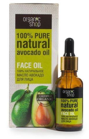 Organic shop масло для лица авакадо 30 млOrganic shop<br>100% натуральное масло авокадо для лица  Масло авокадо обеспечивает полноценный уход для лица, придавая коже тонус, удивительную мягкость, ухоженный вид и здоровое сияние. Масло авокадо содержит огромное количество полезных витаминов А, E, D, K, PP, группы В, полезных жирных кислот, а также лецитин.  Объем: 30 мл  Способ применения:  В чистом виде: Несколько капель масла нанести на чистую, сухую кожу лица.  В креме для лица: Смешать 1-2 капли масла с кремом для лица, нанести на чистую, сухую кожу.  В масках для лица: Смешать в равных пропорциях с готовой маской или маской домашнего приготовления.<br><br>Вес г: 50<br>Бренд : Organic shop<br>Объем мл: 30<br>Тип кожи : все типы кожи<br>Консистенция : масло<br>Тип крема : увлажняющий, питательный, органический<br>Возраст : 25+, 30+, 35+, 40+<br>Эффект : сияние<br>По времени суток : дневной уход<br>Страна производитель : Россия
