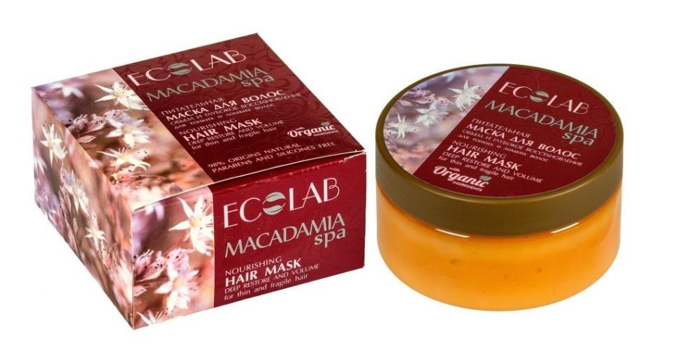 Ecolab SPA Маска для волос Объем и Глубокое восстановлениеДля волос<br>Маска для тонких и ослабленных волос Эколаб Объем и глубокое восстановление.Активные ингредиенты: масло Макадамии, органический экстракт имбиря, масло иланг-иланга.- Макадамия обладает<br> уникальными целебными свойствами. Высокое содержание витамина Е и <br>витаминов всей группы В делает масло Макадамии отличным питательным <br>средством, эффективно восстанавливает структуру и силу тонких и ломких <br>волос, а также способствует глубокой регенерации окрашенных и <br>поврежденных волос, придает объем. - Органический экстракт имбиря укрепляет и предупреждает выпадение, восстанавливает структуру волос. - Масло иланг-иланга - отличное средство для укрепления волосяных фолликул и общего оздоровления волос.Продукт не содержит парабенов и силиконов.Состав: Aqua,<br> Organic Zingiber officinale extract (Органический экстракт Имбиря), <br>Macadamia ternifolia Oil (масло Макадамии), Aesculus Hippocastanus <br>(экстракт Каштана), Theobroma Cacao butter (масло Какао), Glycerin, <br>Behenamidopropyl Dimethylamine, Organic Sophora Japonica flower extract <br>(Органический экстракт цветов Саоры Японской), Glyceryl monostearate, <br>Glyceryl Stearate SE, Cananga essential Oil (масло Иланг-Иланга), <br>Perfume, Lactic Acid, Benzoic Acid, Sorbic Acid, Dehydroacetic Acid, <br>Benzyl alcohol.Способ применеия: нанести небольшое количество маски на волосы, оставить на 2—5 минут, затем тщательно смыть водой. Для наружного применения.Объем: 200 мл.<br><br>Вес г: 250<br>Бренд: Ecolab<br>Объем мл: 200<br>Тип волос: смешанные, поврежденные, тонкие и ослабленные, длинные и секущиеся<br>Действие: увлажнение, питание, укрепление, восстановление, для объема, легкое расчесывание<br>Тип средства для волос: маска