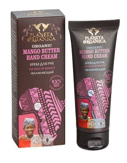 Planeta Organica Крем для рук увлажняющий МангоPlaneta Organica<br>Известно, что кожа рук почти не имеет сальных желез, поэтому нуждается в особом е. Наши натуральные крема для рук имеют легкую консистенцию и обладают высокоэффективным действием, которое выражается в следующем:• питание и увлажнение нежной кожи рук; • заживление ссадин, ран, трещин;• защита кожи от обветривания, перепадов температур, УФ-излучения и воздействия химикатов.Натуральные крема для рук Planeta Organica содержат незаменимые жиры и аминокислоты, которые бережно восстанавливают липидный слой тонкой кожи рук, а также смягчают кожу и снимают раздражения. С нашими кремами  за руками доставит вам истинное удовольствие.<br><br>Вес г: 90<br>Бренд : Planeta Organica<br>Объем мл: 75<br>Средство для рук : крем<br>Страна производитель : Россия
