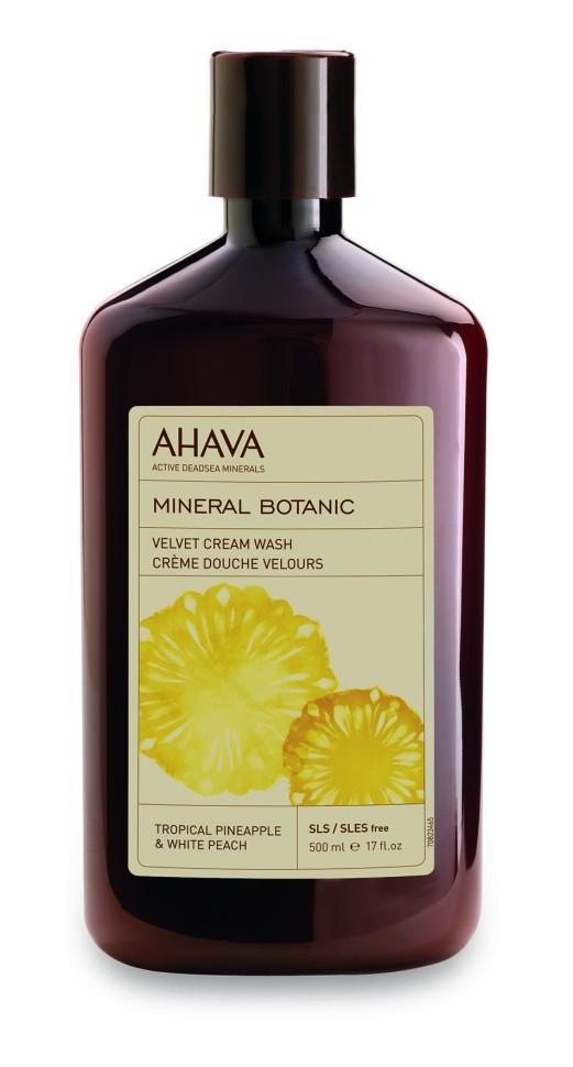 Ahava Mineral Botanic Бархатистое жидкое крем-мыло тропический ананас и белый персик 500 млAhava<br>Бархатистое жидкое крем-мыло Тропический ананас и белый персик.Побалуйте свою кожу восхитительным ароматизированным кремовым мылом на основе тропического ананаса и белого персика. Содержит патентованное средство компании AHAVA Osmoter™, сбалансированный концентрат минералов Мертвого моря, обогащено экстрактами тропического ананаса и белого персика. Благотворно влияет на кожу, увлажняет, успокаивает и улучшает ее структуру, оставляет ее чистой и свежей.Являясь единственной косметической компанией, расположенной на берегу Мертвого моря, цель и задача AHAVA состоит в том, чтобы предоставить достоинства Мертвого моря путем использования своих самых необычных ингредиентов и создания инновационных и эффективных продуктов для потребителей во всем мире.Способ применения:<br>Нанесите на влажную кожу, затем смойте. Для получения более густой пены используйте губку.Особенности состава:<br>*Вся продукция не содержит парабены*Вся очищающие средства не содержат SLS / SLES (лаурет сульфат натрия). *Не содержит продуктов нефтепереработки, агрессивных синтетических ингредиентов и ГМО*Вся продукция гипоаллергена и опробована на чувствительной кожи.*Не тестируется на животных*Вся упаковка подлежит вторичной переработке*Вся продукция содержит формулу Osmoter™Состав:Aqua (Mineral Spring Water), Vegetable Oil, Butyrospermum Parkii (Shea) Butter, Cyclomethicone, Ethylhexyl Palmitate, Stearyl Alcohol, Peg-40 Stearate, Glycerin, C10-18 Triglycerides, Sorbitan Tristearate,  Sodium Lactate, Cetearyl Olivate, Aloe Barbadensis Leaf Juice, Sorbitan Olivate, Maris Aqua (Dead Sea Water), Phenoxyethanol, Cetyl Palmitate, Prunus Persica (Peach) Kernel Oil, Hydrogenated Vegetable Oil, Sorbitan Olivate, Sorbitan Palmitate, Allantoin, Xanthan Gum, Dimethicone, Caprylyl Glycol, Quaternium-18 Hectorite, Chlorphenesin, Salvia Officinalis (Sage) Leaf Water, Hippophae Rhamnoides (Oblipicha) Fruit Oil, PVP, Pa