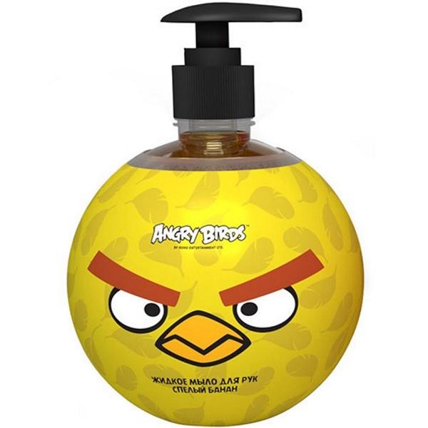 Angry Birds Мыло Жидкое для рук Спелый бананСладкий аромат спелого бразильского банана поднимает настроение, приносит гармонию и радость.<br>Теперь ваш ребенок с удовольствием будет бежать мыть руки еще до того, как вы напомните ему об этом.<br>- Обогащенная эфирными маслами корицы, имбиря и бергамота, формула геля для душа обладает интенсивным питательным и восстанавливающим свойством. <br>- Протеины пшеницы создают на поверхности кожи невидимую защиту, которая способствует удержанию влаги.<br>- Придает тонус коже и активизирует ее собственные силы.<br><br>Вес г: 600<br>Бренд : Angry Birds<br>Объем мл: 500<br>Страна производитель : Россия