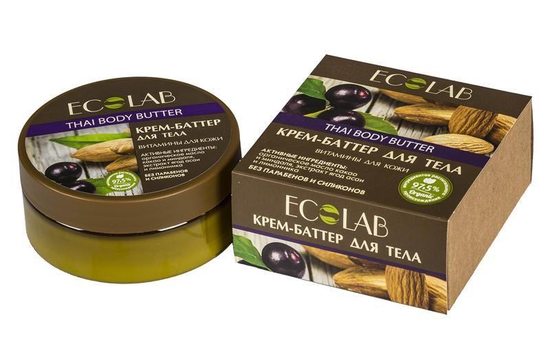 Ecolab Крем-баттер для тела Витамины для кожиДля тела<br>Кремы-баттеры Ecolab содержат более 97% ингредиентов растительного происхождения. Входящее в состав органическое масло какао замечательно питает, увлажняет, смягчает, оживляет, и тонизирует кожу, делая ее еще более нежной, гладкой и сияющей. Оно придает крему-баттеру плотную и насыщенную текстуру.Продукт не содержит парабенов и силиконов.Органическое масло миндаля<br>Способствует хорошему увлажнению и смягчению кожи, устраняет сухость и шелушение, освежает и тонизирует кожу.<br>Экстракта ягод асаи помогает разрушать свободные радикалы, защищает от вредного воздействия окружающей среды и настраивает клетки кожи на регенерацию, улучшает тургор кожи.<br><br>Вес г: 170<br>Бренд : Ecolab<br>Объем мл: 150<br>Страна производитель : Россия