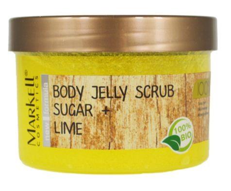 Markell Скраб-Желе для тела Сахар+ЛаймMarkell<br>Интенсивный скраб-желе для тела делает процедуру очищения незабываемой. Стимулирует микроциркуляцию в коже, освежает и тонизирует. Кожа надолго сохранит мягкость и приятный аромат. Сахар обеспечит мягкий скрабирующий эффект, растворяясь у Вас под руками. Ощутите непревзойденную гладкость Вашей кожи!Применение: нанести на влажную кожу, помассировать легкими движениями, смыть водой.<br><br>Вес г: 300<br>Бренд : Markell<br>Объем мл: 280<br>Страна производитель : Белоруссия