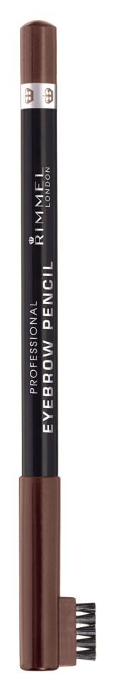 Rimmel Карандаш для бровей с щеточкой Professional Eyebrow Pencil Re-pack (001 dark brown)Rimmel<br>Мягкая формула для легкого нанесения. Натуральные оттенки для идеального макияжа бровей. Удобная щеточка-расческа подготавливает брови для использования карандаша, а затем облегчает равномерное распределение цвета.<br>Состав:<br>гидрированные глицериды плодов пальмового дерева, гидрированное растительное масло, гидрированные глицериды пальмового дерева, синтетический пчелиный воск, карнаубский воск, пригмент<br><br>Вес г: 49<br>Бренд : Rimmel<br>Тип средства для бровей : карнадаш с щеточкой<br>Объем мл: 1<br>Страна производитель : Италия