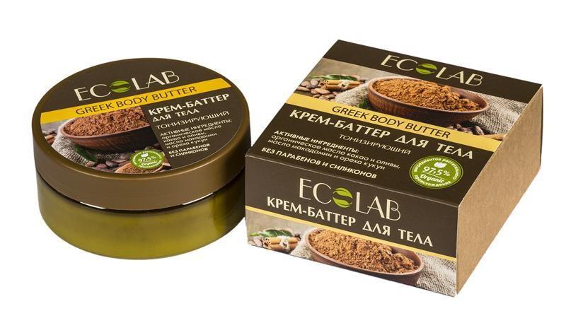 Ecolab Крем-баттер для тела Интенсивное восстановлениеДля тела<br>Кремы-баттеры Ecolab содержат более 97% ингредиентов растительного происхождения. Входящее в состав органическое масло какао замечательно питает, увлажняет, смягчает, оживляет, и тонизирует кожу, делая ее еще более нежной, гладкой и сияющей. Оно придает крему-баттеру плотную и насыщенную текстуру. Продукт не содержит парабенов и силиконов.Органическое масло оливы<br>Богат антиоксидантами, защищает кожу от преждевременного старения и делает ее более гладкой.<br>Органическое масло макадамии<br>Способствует хорошему увлажнению и смягчению кожи, устраняет сухость и шелушение, освежает и тонизирует кожу.<br><br>Вес г: 170<br>Бренд : Ecolab<br>Объем мл: 150<br>Страна производитель : Россия