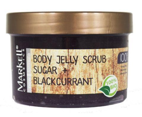 Markell Скраб-Желе для тела Сахар+Черная смородинаMarkell<br>Нежный тающий скраб-желе для тела делает процедуру очищения незабываемой. Кожа надолго сохранит мягкость и приятный аромат. Сахар обеспечит легкий скрабирующий эффект, растворяясь у Вас под руками. Ощутите непревзойденную гладкость Вашей кожи!Применение: нанести на влажную кожу, помассировать легкими движениями, смыть водой.<br><br>Вес г: 300<br>Бренд : Markell<br>Объем мл: 280<br>Страна производитель : Белоруссия