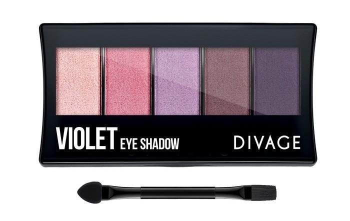 Divage Палетка Теней для век Palettes Eye Shadow VioletDivage<br>Палетки для теней являются одним из самых универсальных инструментов для создания макияжа. Понимая это, DIVAGE приготовил для тебя новую коллекцию палеток для теней. В коллекцию вошли 4 палетки - NATURAL, BASICS, VIOLET и CRYSTAL.   Каждая палетка включает 5 оттенков, отлично сочетающихся между собой и удобную двухстороннюю кисть-аппликатор. В состав палетки NATURAL вошли тени естественных nude оттенков сатиновой текстуры. Они легко накладываются и растушевываются, что позволяет создавать различные образы, от повседневного до вечернего. Оттенки подобраны таким образом, чтобы каждая девушка могла найти палетку, идеально подходящую именно для нее. Имея в косметичке такую палетку, ты можешь экспериментировать с образами каждый день!<br>Особенности состава:<br>Каждая палетка включает 5 оттенков, отлично сочетающихся между собой и удобную двухстороннюю кисть-аппликатор. В состав палетки вошли тени естественных nude оттенков сатиновой текстуры. Они легко накладываются и растушевываются, что позволяет создавать различные образы, от повседневного до вечернего<br>Мнение эксперта:<br>Используя аппликатор, нанеси самый светлый оттенок теней на всё подвижное веко и немного растушуй под бровь и на нижнее веко. Средний оттенок теней нанеси на складку века, хорошо растушевав его кистью, также нанеси его на внешнюю часть нижнего века. Самым тёмным тоном подчеркни ресничный контур и внешний уголок глаза.<br>Состав:<br>Состав: Talc, Mica, Dimethicone, Paraffinum Liquidum, Nylon-12, Isopropyl Myristate, Magnesium stearate, Squalane, Kaolin, Petrolatum, Methylparaben, Propylparaben, BHA.  Может содержать: CI 77491, CI 77492, CI 77499, CI 77891, CI 42090, CI16035, CI19140, CI 77742<br><br>Вес г: 92<br>Бренд : Divage<br>Объем мл: 7<br>В комплекте : кисть, аппликатор<br>Способ нанесения : сухой, влажный<br>Эффект на веках : матовый, перламутровый, сатиновый<br>Тип теней : компактные, палитра теней<br>Страна производитель : К