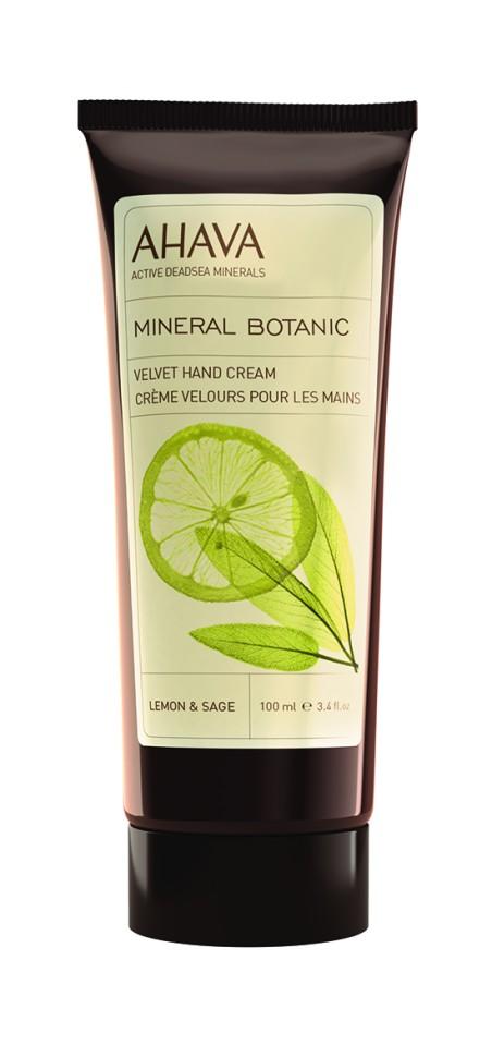 Ahava Mineral Botanic Бархатистый крем для рук лимон и шалфей 100 млAhava<br>Крем с освежающей текстурой, смягчает и восстанавливает кожу. Содержит растительные экстракты – очищающая и размягчающая цедра лимона, защищающий и успокаивающий шалфей, разглаживающий гамамелис и увлажняющие минералы Мертвого моря.Являясь единственной косметической компанией, расположенной на берегу Мертвого моря, цель и задача AHAVA состоит в том, чтобы предоставить достоинства Мертвого моря путем использования своих самых необычных ингредиентов и создания инновационных и эффективных продуктов для потребителей во всем мире.Способ применения:<br>Нанести необходимое количество на очищенную кожу массирующими движениями до полного впитывания<br>Особенности состава:<br>*Вся продукция не содержит парабены*Вся очищающие средства не содержат SLS / SLES (лаурет сульфат натрия). *Не содержит продуктов нефтепереработки, агрессивных синтетических ингредиентов и ГМО*Вся продукция гипоаллергена и опробована на чувствительной кожи.*Не тестируется на животных*Вся упаковка подлежит вторичной переработке*Вся продукция содержит формулу Osmoter™Состав:<br>Aqua (Mineral Spring Water), Ethylhexyl Palmitate, Cetearyl AlcoholCetyl Alcohol, Glycerin, Ceteareth-30, Sodium Cetearyl Sulfate, Propanediol (Corn derived Glycol), Hamamelis Virginiana (Witch Hazel) Water, Phenoxyethanol, Maris Aqua (Dead Sea Water), Dimethicone, Parfum (Fragrance), Allantoin, Ethylhexylglycerin, Salvia Officinalis (Sage) Leaf Water, Citrus Medica Lemonum (Lemon) Peel Extract, Sorbic Acid, Limonene, Citral, Linalool.<br><br>Вес г: 145<br>Бренд : Ahava<br>Объем мл: 100<br>Возраст : 12+<br>Средство для рук : крем<br>Страна производитель : Израиль