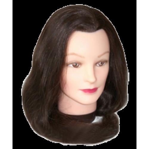 Dewal Голова учебная брюнетка, протеиновые волосы 50-60 смDewal<br>Характеристика головы учебной DEWAL «шатенка», протеиновые волосы 30-40 см:<br>- Голова-манекен без штатива,торговой марки Dewal;<br>- Изготовлена из высококачественной пластмассы и искусственных волос темного  цвета длиной 30-40 см;<br>- Используется в учебных целях.<br>Манекены головы – это один из самых важных инструментов каждого парикмахера, который  служит для тренировки и обучения начинающего специалиста делать стрижки, укладки, причёски, заплетать косы, окрашивать волосы.<br>Особенности головы-манекена с протеиновыми  волосами длиной 30-40 см:<br>- Голова-манекен высокого качества от производителя с многолетней историей;<br>- Возможность оттачивать навыки стрижки волос ножницами, не боясь испортить инструменты;<br>- Возможность создания как горячей укладки с помощью фена, плойки и других инструментов, так и холодной;<br>- Возможность тренироваться в создании различного рода причёсок: вечерних, свадебных, повседневных, с использованием шпилек, заколок и других аксессуаров;<br>- Возможность окрашивать, тонировать и колорировать волосы;<br>- Используя при производстве протеиновые волосы , мы обеспечиваем не высокую стоимость данного продукта.<br>Правила эксплуатации и уход за головой-манекеном протеиновыми волосами: при использовании голов-манекенов с протеиновыми волосами требуются те же правила, что и с натуральными человеческими  волосами. Их можно мыть шампунем, наносить маски и бальзамы, аккуратно расчесывать. Степень теплового воздействия (сушка феном, окрашивание, хим. завивка, завивка с помощью плоек, утюжков) на протеиновые волосы волосы  имеет ограничение 140C . В противном случае их можно просто пережечь, что ведет к их выпадению. Внимательно соблюдайте инструкцию и Ваш манекен прослужит Вам достаточно долго.<br>Манекен головы – идеальный выбор как для начинающего, так и для опытного парикмахера. С помощью этого инструмента  вы сможете повысить свои навыки в работе с волосами: в созда