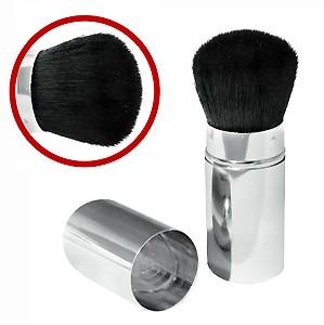 Limoni №28 Кисть выдвижная для пудры и румянКисти<br>Универсальная кисть от Limoni идеально подходит как для пудры, так и для румян. Натуральный ворс (коза) обеспечивает ровное нанесение и легкую растушевку. Выдвижной футляр защищает кисть и позволяет носить ее с собой, не повреждая.Волокна: козаРучка: металлический футляр<br><br>Вес г: 30<br>Бренд : Limoni<br>Материал кистей : коза<br>Вид кистей : выдвижная<br>Предназначение кистей : для пудры, для румян