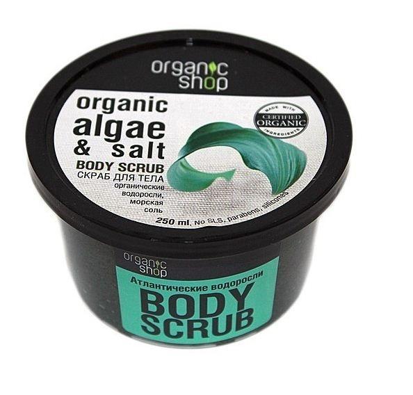 Organic shop Скраб для тела Атлантические водорослиOrganic shop<br>Освежающий скраб для тела Organic Shop на основе органических экстрактов водорослей и морской солипревосходно отшелушивает и обновляет кожу, придавая ей гладкость, бархатистость и здоровый ухоженный вид.Состав: Sodium Chloride, Glycerin, Laminaria Digitata Extract, Fucus Vesiculosus Extract органические экстракты водорослей, Aqua, Butyrospermum Parkii органическое масло ши, Cetearyl Alcohol, Cocamidopropyl Betaine, Aloe Barbadensis Leaf Extract органический экстракт алоэ-вера, Chlorophyllin-Copper Complex хлорофилл, Iron Oxides, Parfum.Способ применения: нанести на влажную кожу легкими массирующими движениями, смыть водой. Условия и сроки хранения: Срок годности: см. на упаковке. Хранить в местах недоступных для детей. Не использовать после истечения срока годности.<br><br>Вес г: 300<br>Бренд: Organic shop<br>Объем мл: 250<br>Страна производитель: Россия
