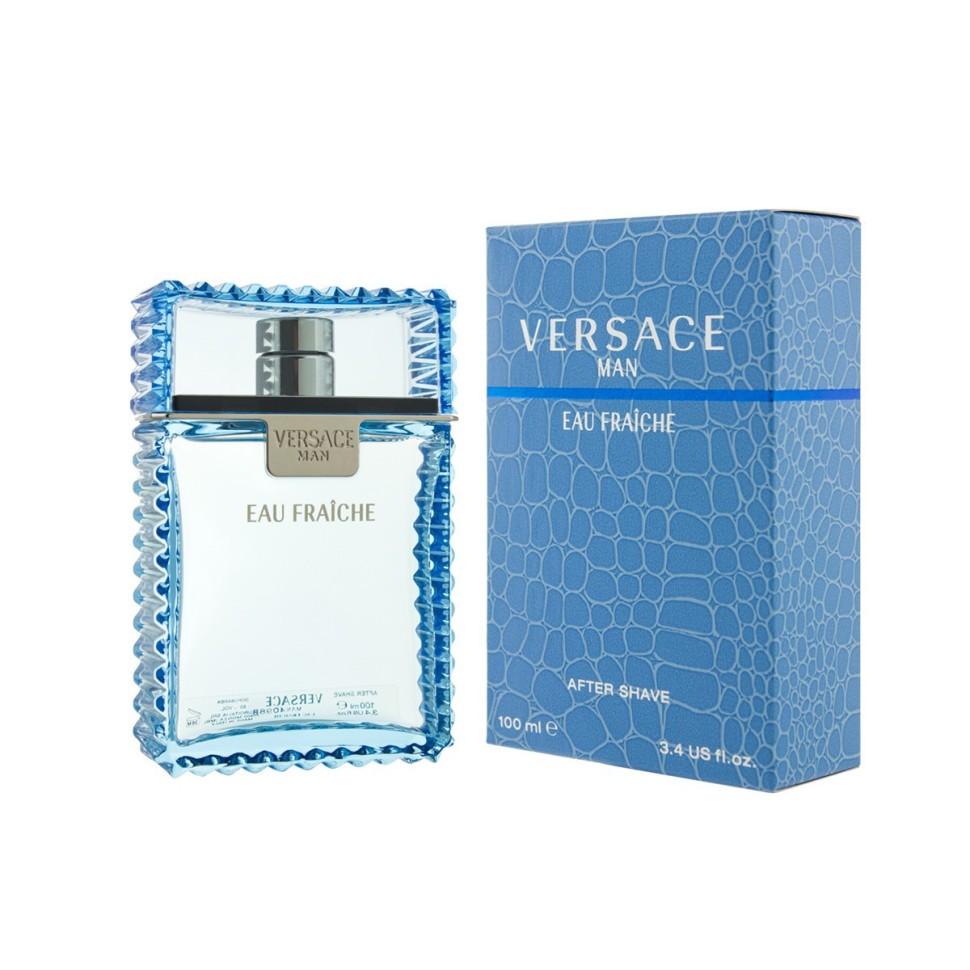 Versace Eau Fraiche Лосьон после бритья 100 млVersace<br>Это ароматическая композиция, где классические мужские нотки несколько разбавлены более свежими аккордами, придающими аромату необыкновенно легкие оттенки. Этот аромат для мужчины, который силен душой, свободен и знает, как наслаждаться жизнью, как бы выпивая ее небольшими глотками.<br>Мнение эксперта:<br>VERSACE MAN СИМВОЛИЗИРУЕТ СОБОЙ ЭЛЕГАНТНОСТЬ И СОБЛАЗН. ЭТОТ АРОМАТ ПОСВЯЩЕН СОВРЕМЕННОМУ, УВЕРЕННОМУ В СЕБЕ МУЖЧИНЕ С ВЫРАЖЕННОЙ ХАРИЗМОЙ. Донателла Версаче<br>Особенности состава:<br>Ароматический тонизирующий древесный<br>Состав:<br>дистиллированная вода, вирджиниана, PPG-20 метилглюкозэфир, ароматическая композиция, PPG-26-бутет-26, PEG-40 гидрированное касторовое масло, PEG-18 пальм-глицерид, метиллактат, бисаболол, кумарин, гидроксизогексил 3, лимонен, линалул, аллантоин, альфа-изометиллонон, гераниол, цитраль, цинамаль, этиловый спирт<br><br>Вес г: 418<br>Бренд : Versace<br>Объем мл: 100<br>Страна производитель : Италия