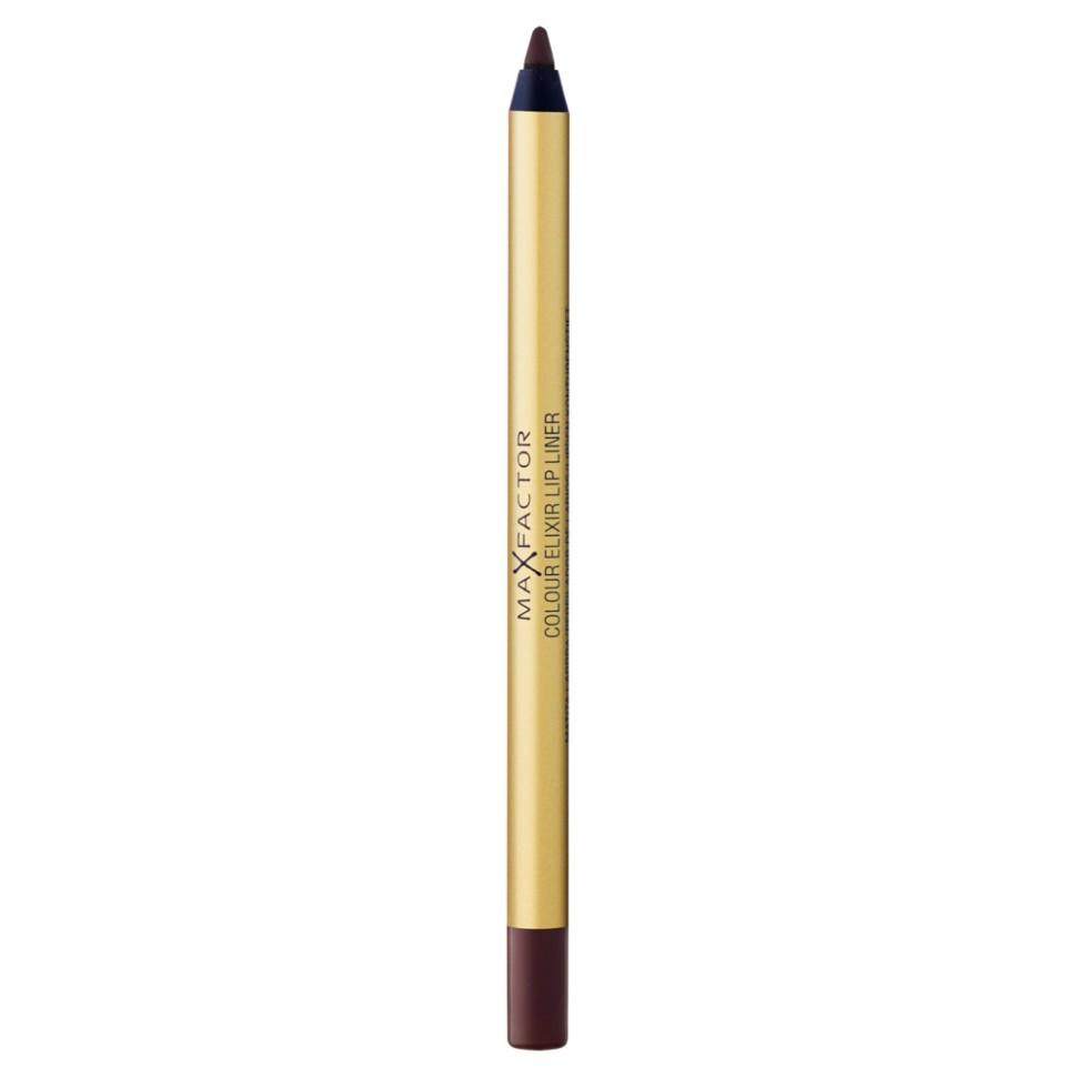 Max Factor карандаш для губ Colour Elixir Lip Liner (08 mauve mistress)Max Factor<br>Секрет эффектного макияжа губ - правильный карандаш. Он мягко касается губ и рисует точную линию, подчеркивая контур и одновременно ухаживая за губами. Карандаш для губ Colour Elixir подчеркивает твои губы, придавая им форму. - Роскошный цвет и увлажнение для мягких и гладких губ. - Оттенки подходят к палитре помады Colour Elixir. - Легко наносится.<br>Способ применения:1. Выбирай карандаш на один тон темнее твоей помады 2. Наточи карандаш и смягчи кончик салфеткой 3. Подведи губы в уголках, дугу Купидона и середину нижней губы, затем соедини линии 4. Нанеси несколько легких штрихов на губы, чтобы помада держалась дольше.<br>Состав:<br>Циклопентасилоксан, парафин, слюда, полибутен, С11-12 изопарафин, гидрированное хлопковое масло, озокерит, микрокристаллированная сера, гидрогенизированное пальмовое масло, токоферол, пропил-парабен, Cl 15850, Cl 19140, Cl 42090<br><br>Вес г: 36<br>Бренд : Max Factor<br>Тип карандаша : деревянный<br>Объем мл: 1<br>Страна производитель : Германия