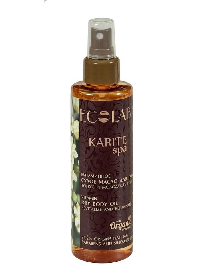 Ecolab SPA Масло-спрей сухое для тела Тонус и Молодость кожиДля тела<br>Масло для сухой кожи тела Тонус и Молодость кожи.<br>Активные ингредиенты: масло Карите, органический экстракт камелии и экстракт карамболы.- Масло Карите -<br> продукт вечнозеленого дерева Ши, которое родом из Африки. Масло Карите <br>содержит полезные жирные кислоты и витамины Е, F, А и D, которые <br>способствуют глубокому питанию и омоложению кожи. - Органический экстракт камелии и экстракт карамболы увлажняют, тонизируют и насыщают кожу витаминами.Состав: Octyldodecanol,<br> масло ши, Органический экстракт Камелии, Caprylic/capric triglycerides,<br> экстракт Карамболы, Isododecane and Hydrogenated <br>tetradecenyl/methylpentadecene, масло мимозы, масло лайма, Tocopherol <br>(витамин Е), Perfume, Linalool, Citronellol, Limonene, Geraniol, <br>Eugenol, Citral. Продукт не содержит парабенов и силиконов.Способ применения: массажными движениями нанести небольшое количество масла на кожу до полного впитывания. Для наружного применения. <br>Объем: 200 мл.<br><br>Вес г: 250<br>Бренд: Ecolab<br>Объем мл: 200<br>Страна производитель: Россия