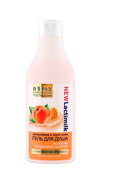 Lactimilk гель для душа увлажнение и тонус кожиLactimilk<br>На основе миндального молочка с био-маслом абрикоса.Поднимите себе настроение вместе с гелем для душа на основе миндального молочка с био-маслом абрикоса. Он бережно очищает, интенсивно увлажняет и великолепно тонизирует кожу, оставляя ощущение мягкости и комфорта. Миндальное молочко эффективно увлажняет кожу, восстанавливает упругость и эластичность, усиливает защитные функции кожи. Био-масло абрикоса богато витаминами, которые необходимы для красоты и здоровья кожи. Масло интенсивно питает, ускоряет регенерацию клеток, делает кожу мягкой и бархатистой. Информация о характеристиках, комплекте поставки, стране изготовления и внешнем виде товара носит справочный характер и основывается на последних доступных к моменту публикации сведениях. Результаты взаимодействия косметических средств зависят от индивидуальных особенностей организма.<br><br>Вес г: 450<br>Бренд : Lactimilk<br>Объем мл: 400<br>Страна производитель : Россия