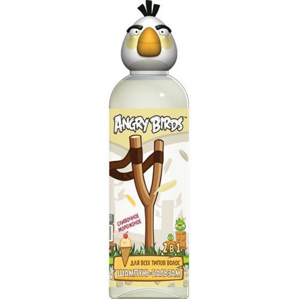 Angry Birds Шампунь-бальзам 2в1 для всех типов кожи сливочное мороженое Белая птица МатильдаAngry Birds<br>Насладись самым нежным ароматом из коллекции… СЛИВОЧНОЕ МОРОЖЕНОЕ… Сладкий аромат нежного сливочного мороженого - настоящее удовольствие для гурманов!<br>- Питательный шампунь благодаря кокосовому маслу в составе, придает волосам силу и блеск, препятствует их выпадению и устраняя эффект секущихся кончиков. <br>- Эфирные масла корицы и бергамота улучшают общее состояние волос, способствует их здоровому росту. <br>- Д-пантенол увлажняет стержень волоса, повышая его эластичность.<br><br>Вес г: 250<br>Бренд : Angry Birds<br>Объем мл: 200<br>Страна производитель : Россия