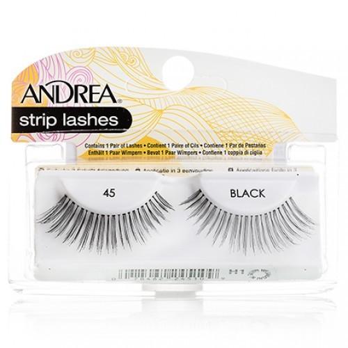 ANDREA Mod Lash Strip Lashes Ресницы накладные 45Andrea<br>Естественные тонкие ресницы для придания длины. Не утолщают ресничный покров. Хорошо дополняют любой вид макияжа. Рекомендуются для миндалевидной формы глаз.<br><br>Вес г: 50<br>Бренд : Andrea<br>Тип продукта : ресницы<br>Страна производитель : США