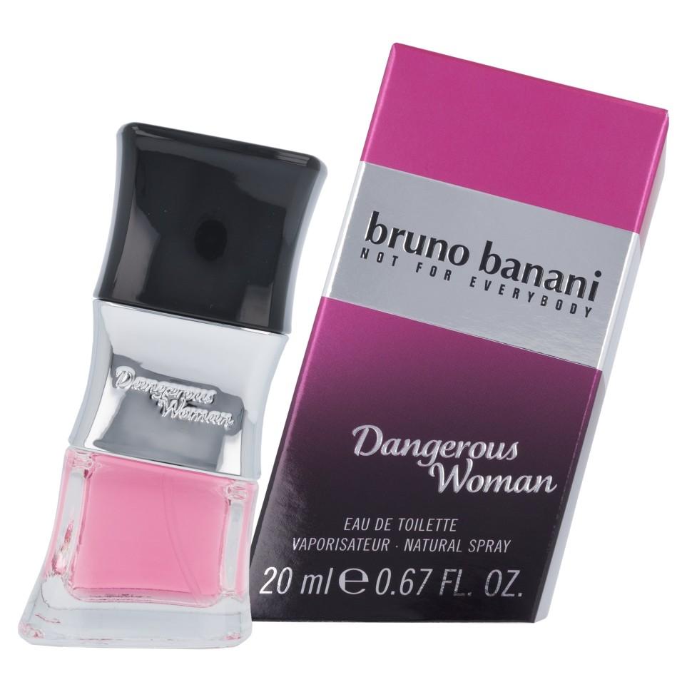 Bruno Banani Dangrs Woman Туалетная вода 20 млBruno Banani<br>Руководство по выбору:<br>Дневной и вечерний аромат<br>Описание:<br>Bruno Banani Dangerous Woman – интригующий, яркий парфюм, созданный для прекрасных женщин. Принадлежит к семейству восточных гурманских ароматов. Парфюм был выпущен в свет немецким модным домом Bruno Banani в 2013 году. Невероятно чувственный, манящий, соблазняющий, но в то же время не лишенный деликатности аромат для женщин, которые знают себе цену и умеют соблазнять.<br>Особенности состава:<br>Аромат построен на неожиданном сочетании чувственных нот кокосового молока и лакомой кремовой ванили<br>Мнение эксперта:<br>Чувственный и пленительный аромат, подчеркивающий твою природную привлекательность и истинную женственность<br>Состав:<br>Alcohol Denat., Aqua (Water), Parfum (Fragrance), Amyl Cinnamal, Benzyl Alcohol, Benzyl Benzoate, Bht, Butylphenyl Methylpropional, Citronellol, Coumarin, Diethylamino Hydroxybenzoyl Hexyl Benzoate, Ethylhexyl Methoxycinnamate, Eugenol, Geraniol, Hexyl Cinnamal, Hydroxycitronellal, Hydroxyisohexyl 3-Cyclohexene Carboxaldehyde, Limonene, Linalool, Ci 15985 (Yellow 6), Ci 17200 (Red 33) Pao : 36 M<br><br>Вес г: 100<br>Бренд : Bruno Banani<br>Объем мл: 20<br>Возраст : 14+<br>Страна производитель : Германия<br>Вид Аромата : Восточный<br>Шлейф : Гелиотроп<br>Верхняя Нота : Черная смородина<br>Верхняя Нота : Черная смородина